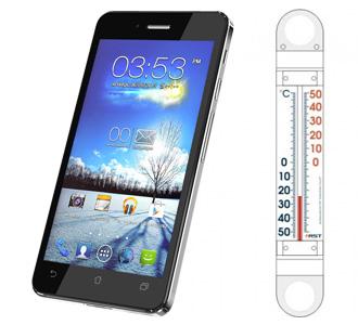 смартфон на морозе фото